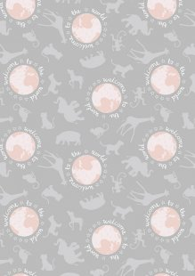 Lewis & Irene - Welcome Home A218.3 - Welcome To The World Pink On Grey