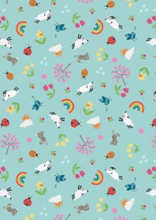 Lewis & Irene - Whatever The Weather A374.3 Spring on duck egg blue
