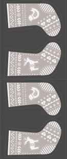 Lewis & Irene - When I Met Santa's Reindeer C10.2 Grey stocking