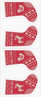Lewis & Irene - When I Met Santa's Reindeer C10.1 Red & Natural stocking