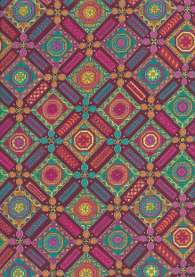 Liberty Cotton Lawn - Squares Red LOR265
