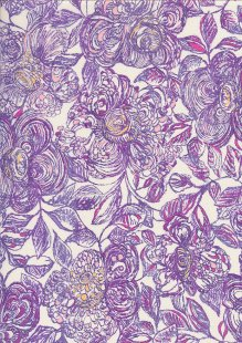 Liberty Cotton Lawn - Floral Purple LOR255
