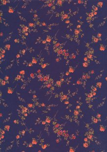 Liberty Cotton Lawn - Orange Rose Purple LOR247
