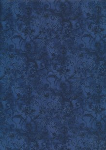 Liberty Cotton Lawn - Floral Swirl Blue LOR113