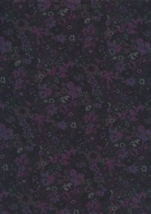 Liberty Cotton Lawn - Scattered Flowers Black LOR37