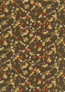 Liberty Cotton Lawn - Sunflower Patch Khaki LOR87