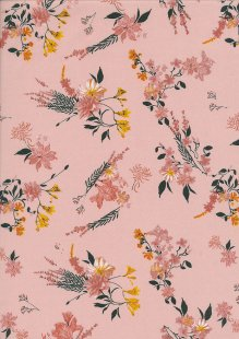 Lady McElroy Cotton Lawn - Blush Vine Pink-758