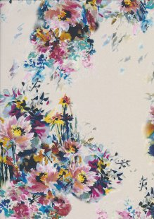 Lady McElroy Cotton Lawn - Watercolour Fleur Cream-868