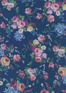 Lady McElroy Cotton Lawn - Queen Of Blooms Blue-864