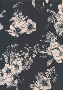 Lady McElroy Cotton Lawn - Trailing Lotus Black-30?