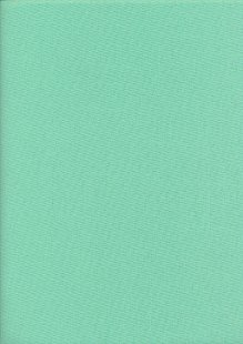 Linen Look Cotton Plain - Spearmint Green