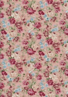 Linen Look Cotton - Pink Vintage Rose