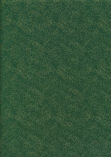 John Louden Christmas Metallic Print - Spaced Glitter Foil Green/ Gold JLX0007GRE