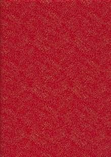 John Louden Christmas Metallic Print - Spaced Glitter Foil Red/ Gold JLX007RED