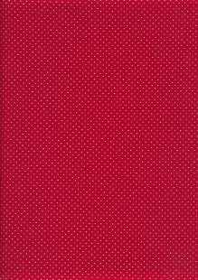John Louden Christmas Metallic Print - Christmas Dot Foil Red/ Gold JLX006RED