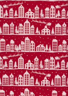 John Louden Scandi Christmas - Nordic House Red JLX0018RED