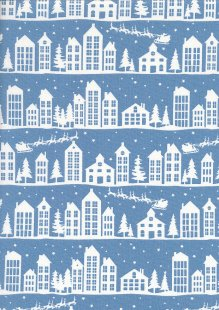 John Louden Scandi Christmas - Nordic House Soft Blue JLX0018BLU