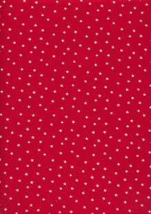 John Louden Scandi Christmas - Stars Red/Nat JLX0022RNAT