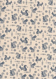 John Louden Scandi Christmas - Squirrel Nat/Grey JLX0027GREY