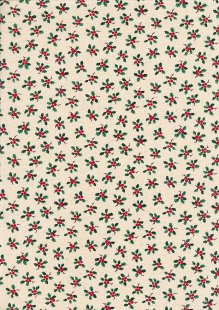 John Louden Scandi Christmas - Holly Natural JLX0029