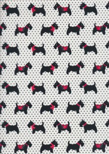 Craft Cotton Co Christmas - Scottie Dogs White CHR4