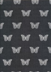 Makower Botanica - 1863/S Butterfly Grey