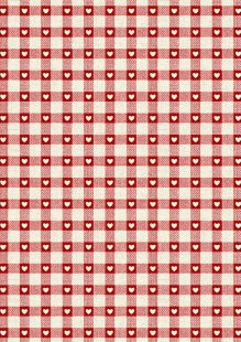 Makower Scandi Christmas - 1614/R Check Red