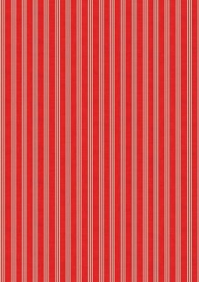 Makower Scandi Christmas - 1780/R Triple Stripe Red