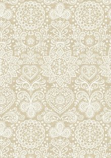 Makower Scandi Christmas - 1784/Q Lace Cream