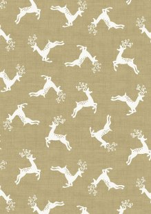 Makower Scandi Christmas - 1785/Q5 Deer Scatter Taupe
