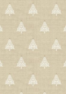 Makower Scandi Christmas - 1783/Q Trees Taupe