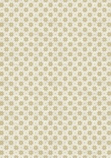Makower Scandi Christmas - 1789/Q1 Nordic Snowflake Taupe on Cream