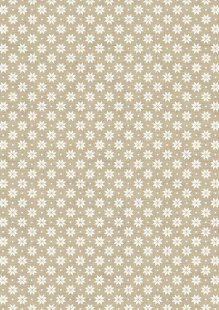 Makower Scandi Christmas - 1789/Q5 Nordic Snowflake Cream on Taupe