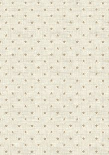 Makower Scandi Christmas - 1615/Q Mini Star Hessian
