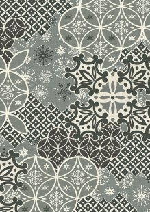 Makower Scandi Christmas - 1781/S Montage Grey