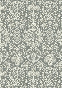 Makower Scandi Christmas - 1784/S Lace Grey