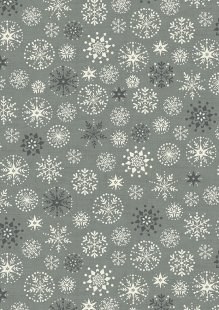 Makower Scandi Christmas - 1787/S Snowflakes Grey