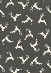 Makower Scandi Christmas - 1785/S9 Deer Scatter Slate