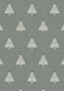 Makower Scandi Christmas - 1783/S Trees Grey