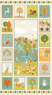 Makower - Forest 2173 1  Forest animals panel