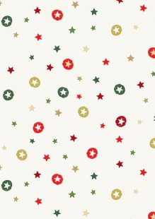 Makower Modern Metallic Christmas - 1802/Q Stars Cream
