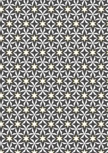 Makower Modern Metallic Christmas - 1804/S Geometric Stars Grey