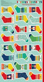 Makower Novelty Christmas - 1814/1 Mini Stocking Advent