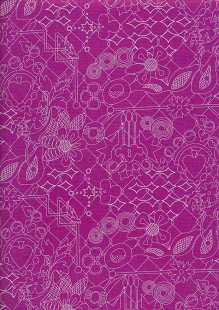 Makower Sun Prints - Plum 8482-P