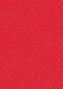 Makower Traditional Christmas - 1749/R Dash Red