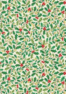 Makower Traditional Christmas - 1792/1 Holly