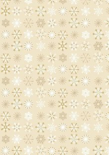 Makower Traditional Christmas - 1796/Q Snowflakes Cream