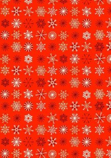 Makower Traditional Christmas - 1796/R Snowflakes Red