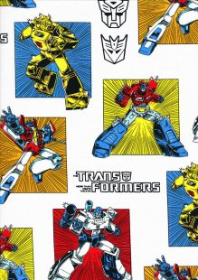 Marvel Collection - Transformers Stamps White