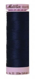 Silk-Finish Cotton 50 150m XS AM9105-0825 Navy